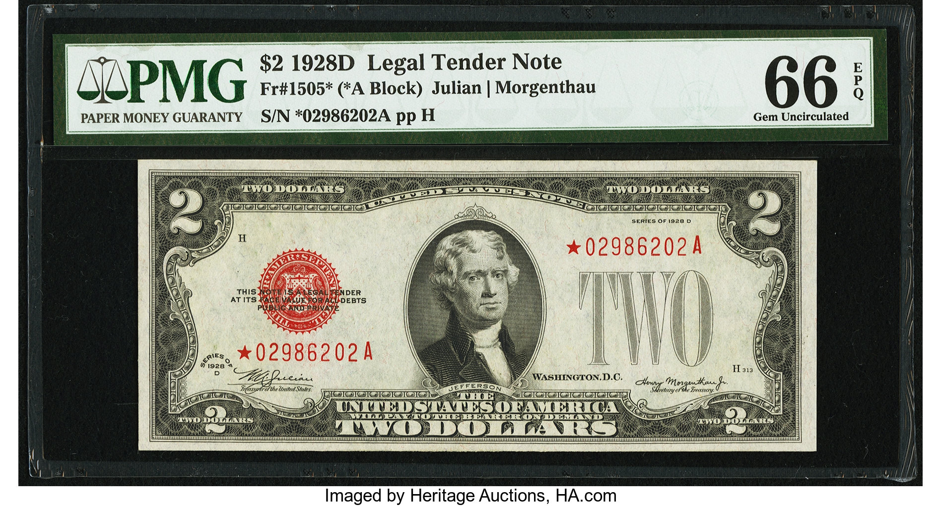 sample image for 1928D $2  (Fr.# 1505*)