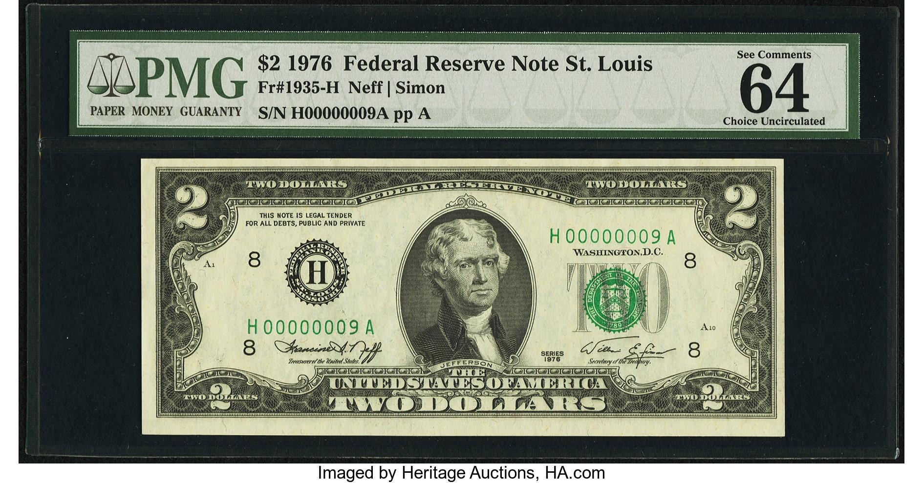 sample image for 1976 $2  St. Louis (Fr.# 1935H)