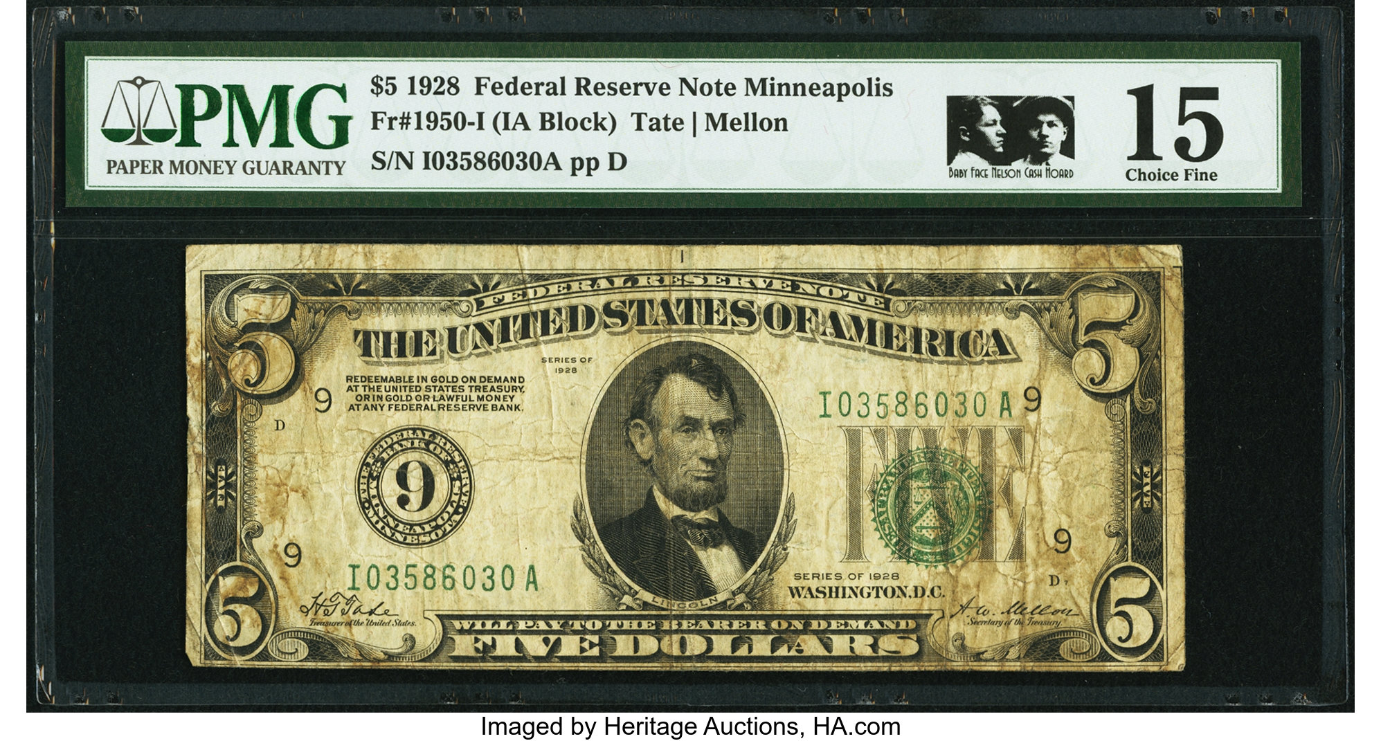 sample image for 1928 $5  Minneapolis (Fr.# 1950I)