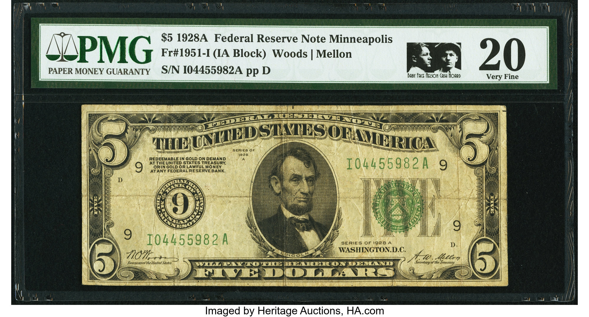 sample image for 1928A $5  Minneapolis (Fr.# 1951I)