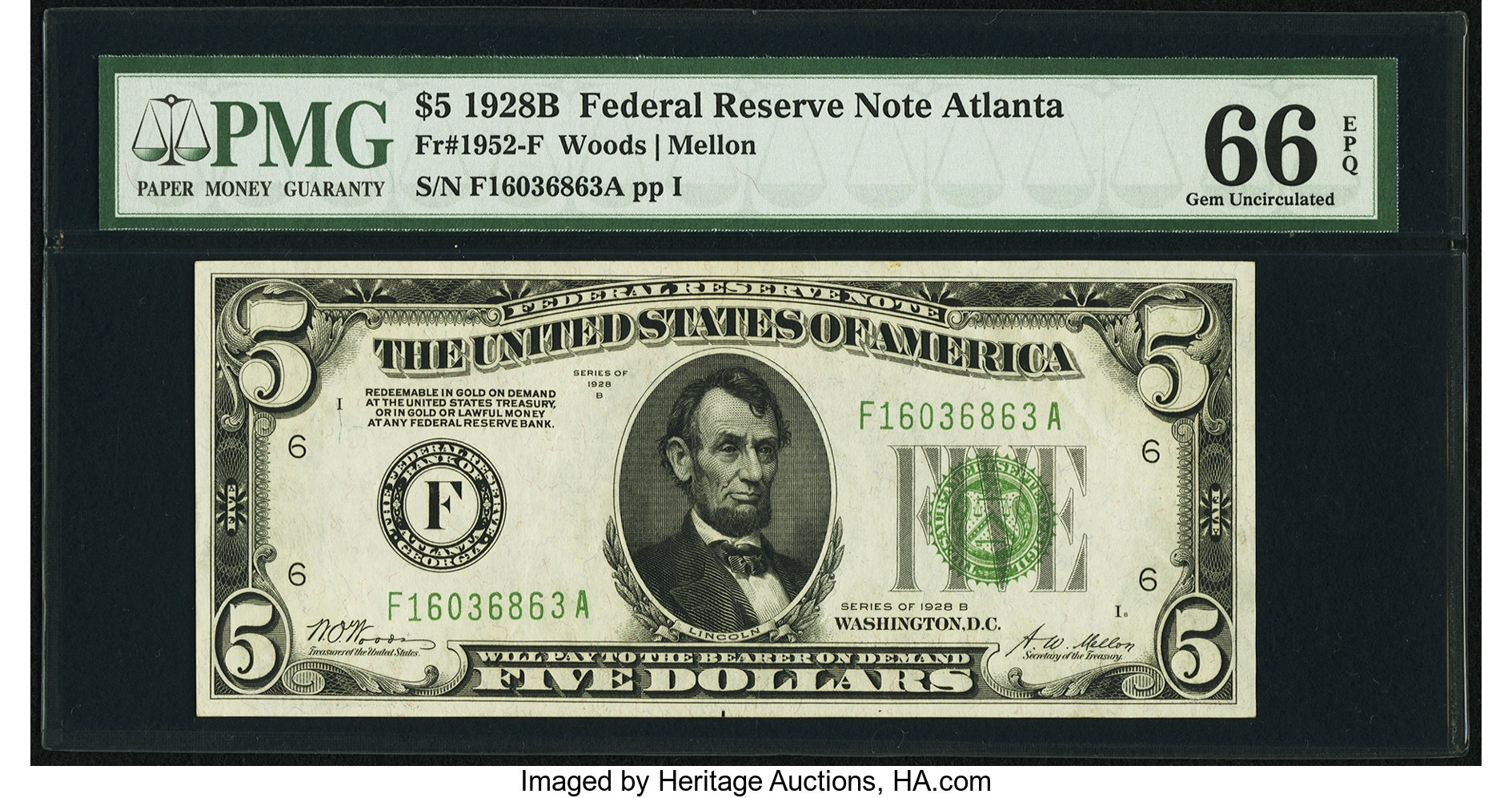sample image for 1928B $5  Atlanta (Fr.# 1952F)