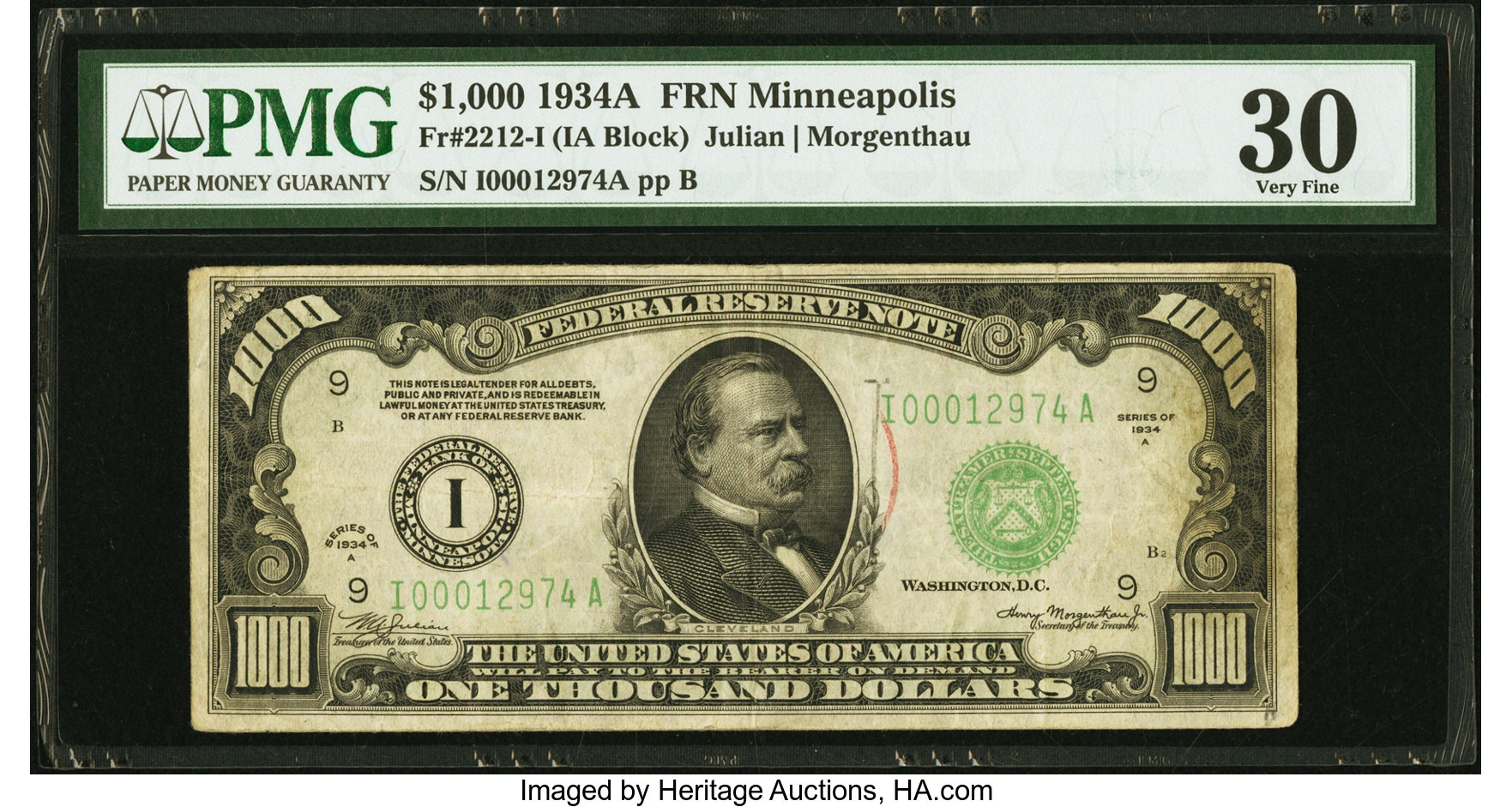 sample image for Fr.2212I $1,000 1934A Minneapolis