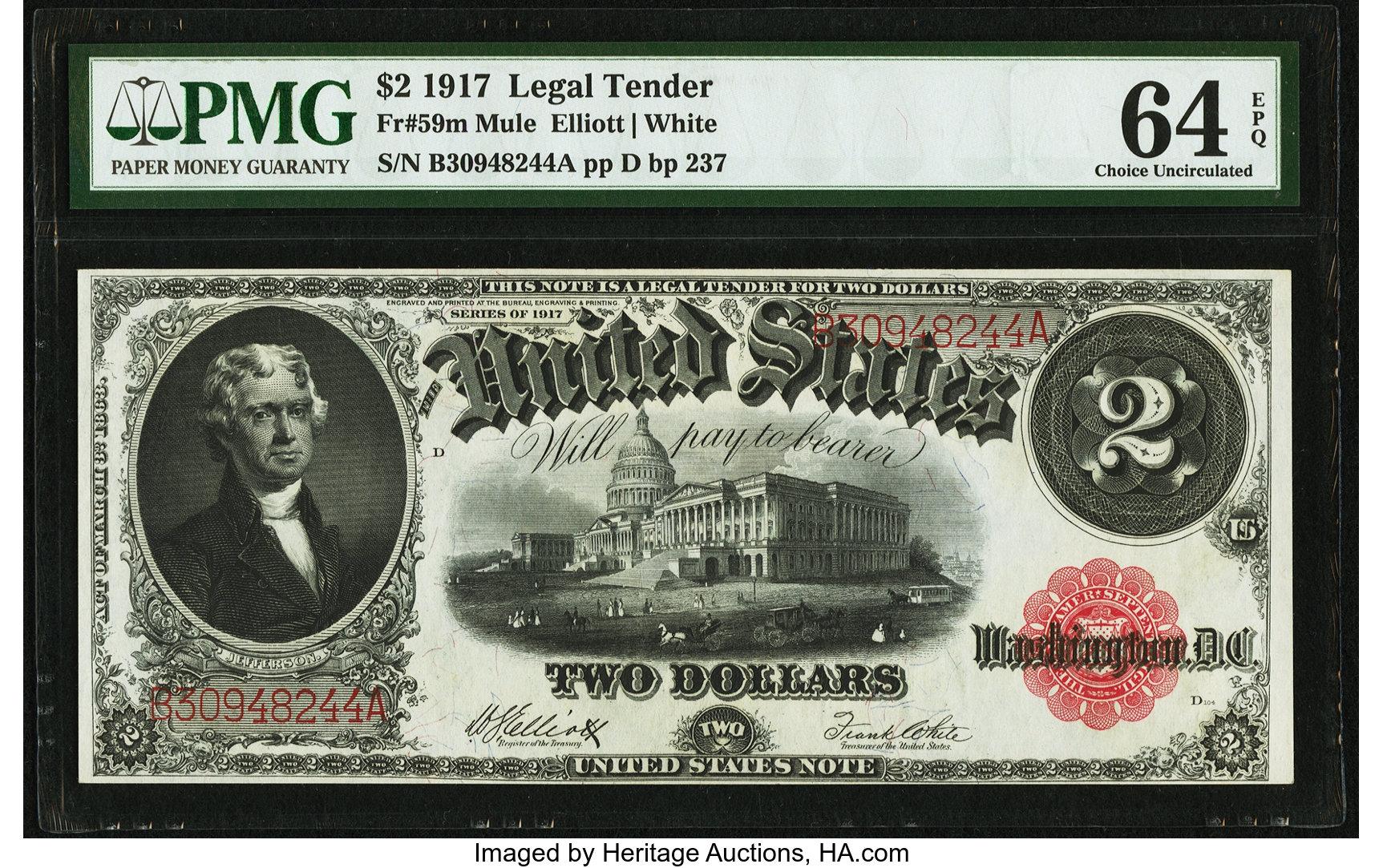 sample image for 1917 $2  (Fr.# 59)