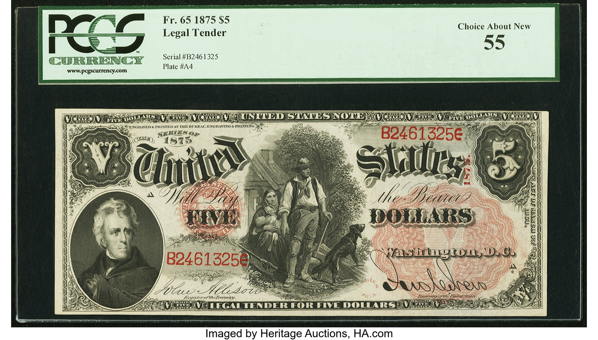sample image for 1875 $5  (Fr.# 65)