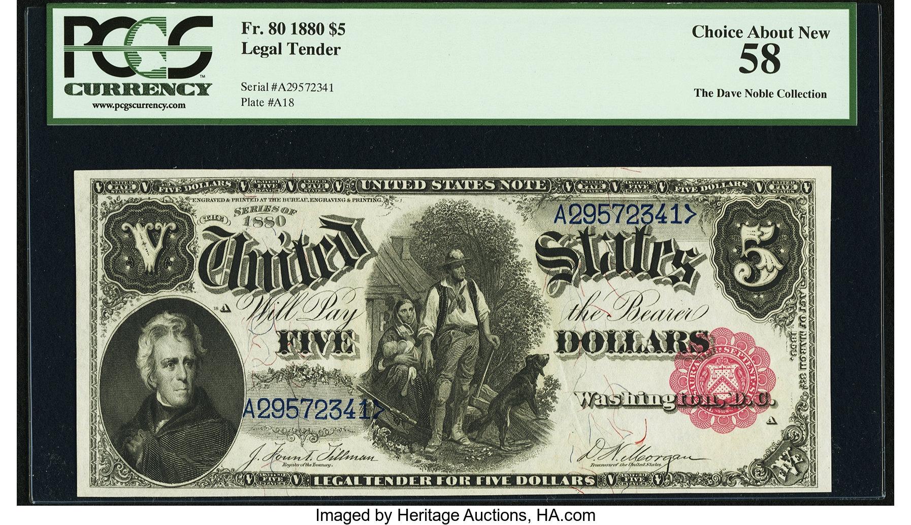 sample image for 1880 $5  (Fr.# 80)