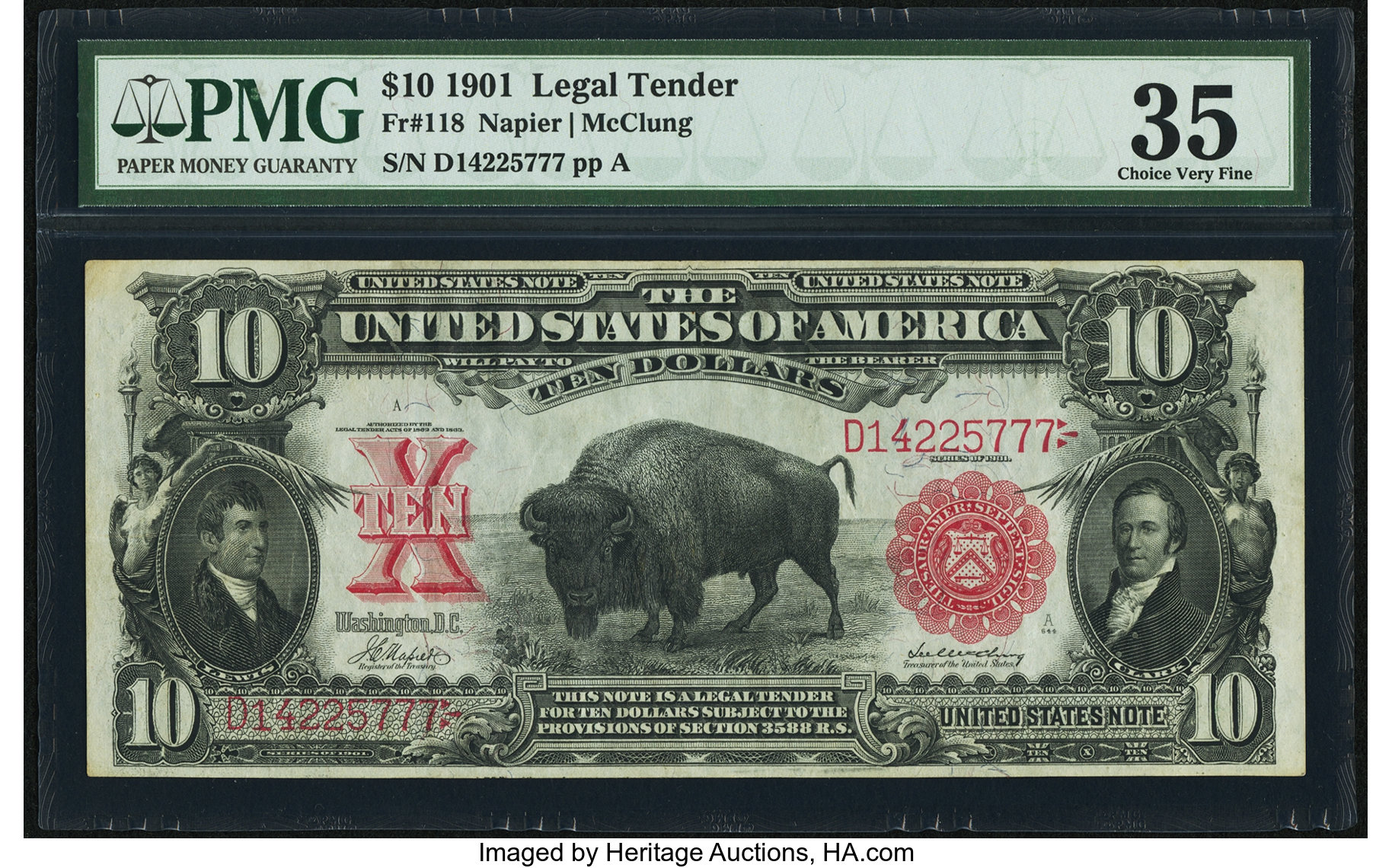 sample image for 1901 $10  (Fr.# 118)