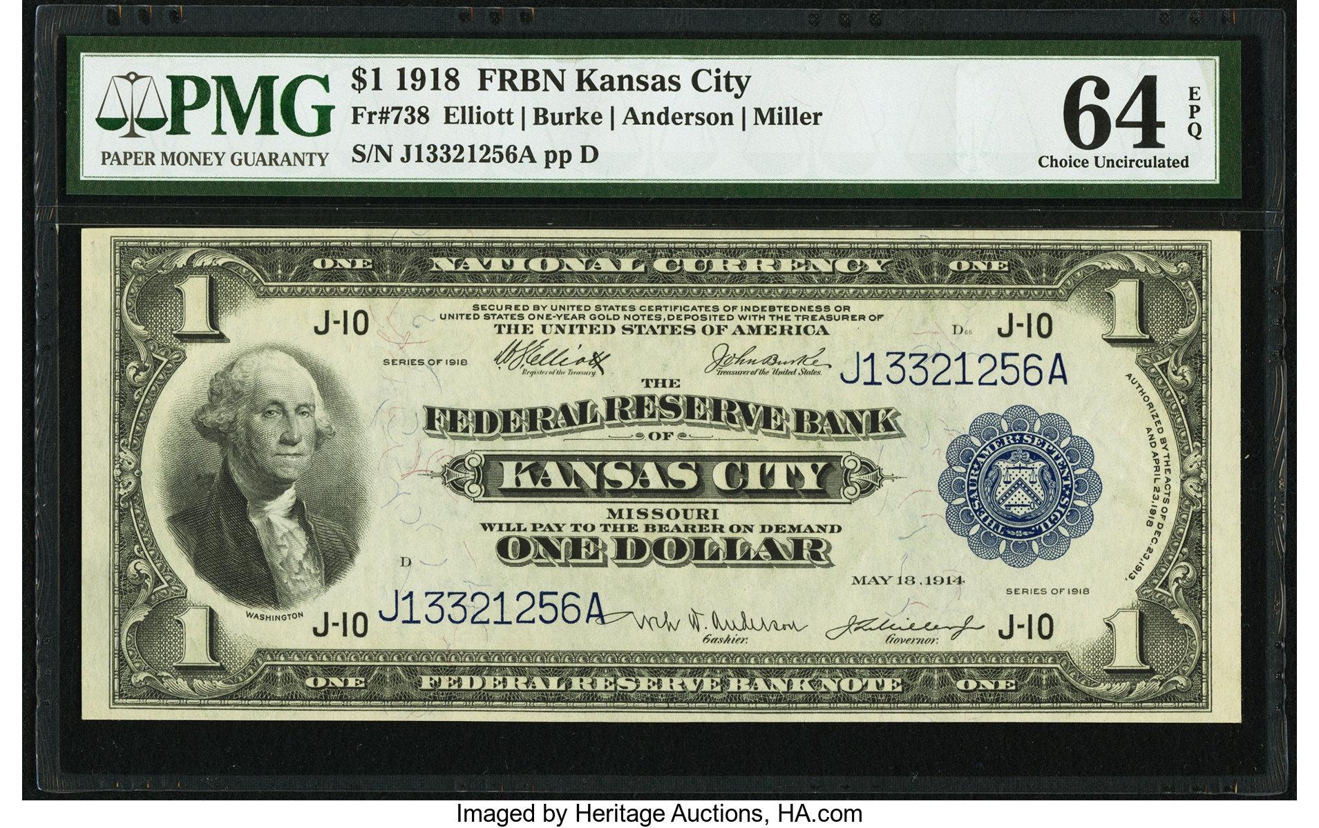 sample image for 1918 $1  Kansas City (Fr.# 738)