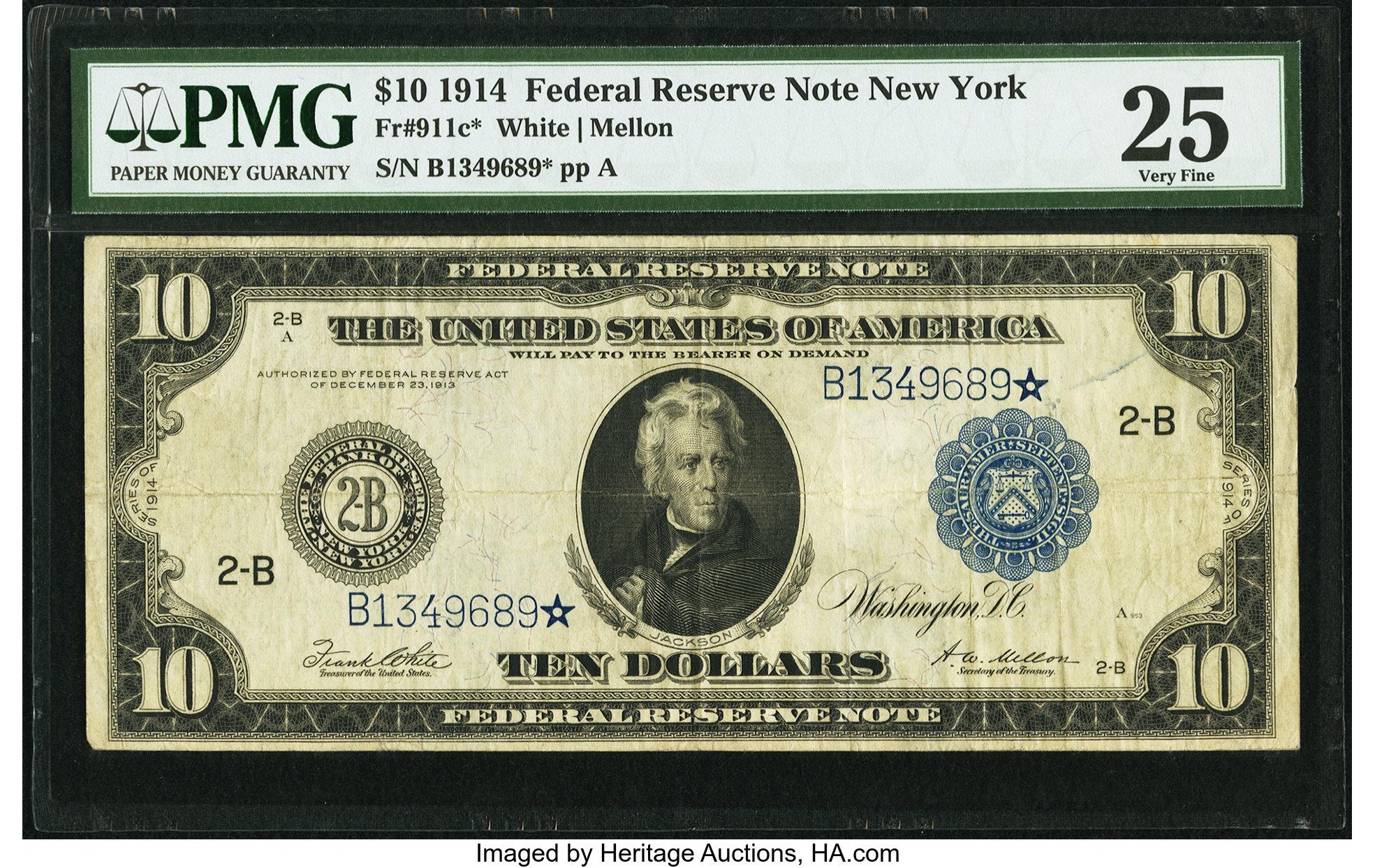 sample image for Fr.911C $10 NY