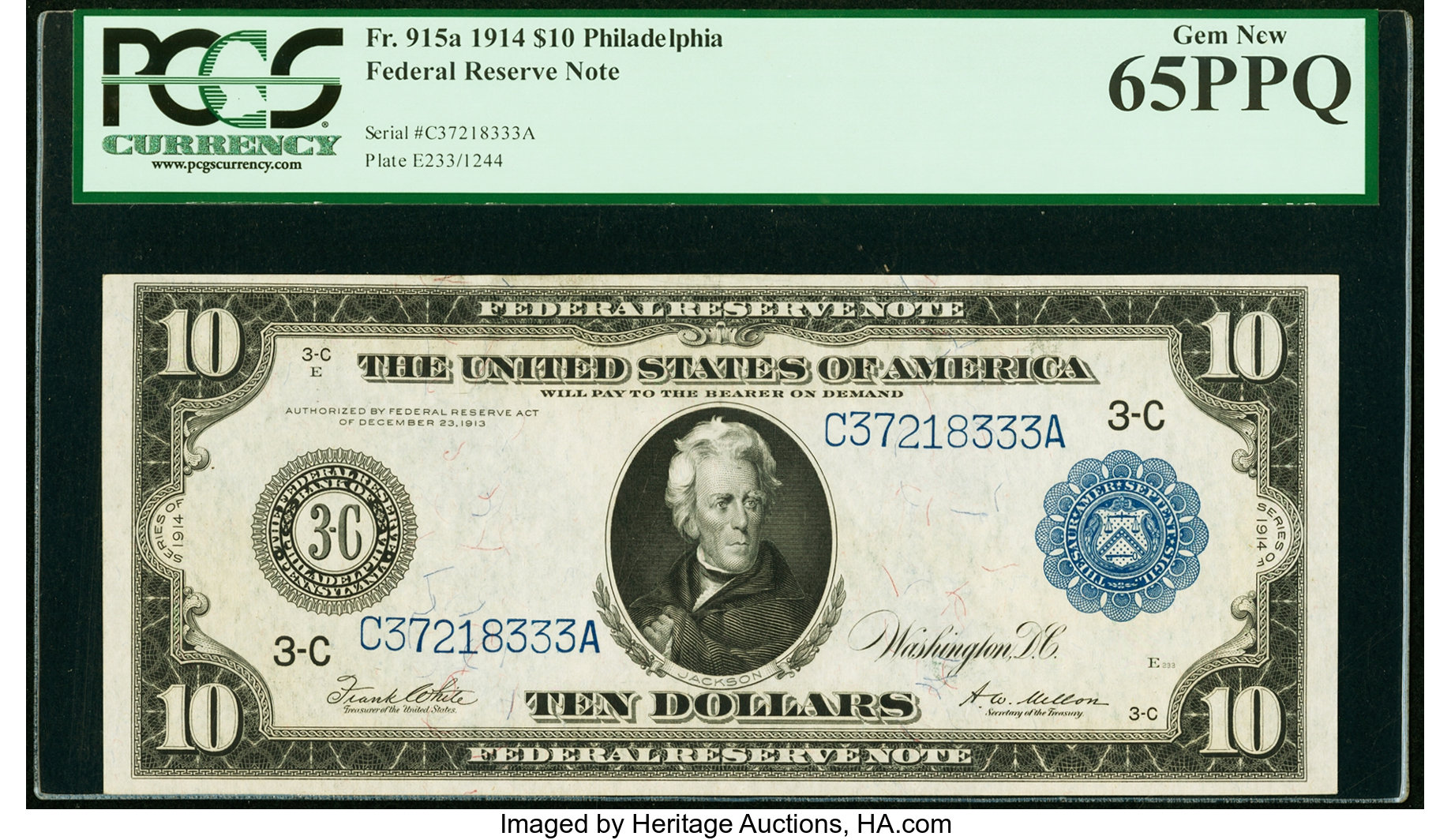 sample image for Fr.915A $10 Philly