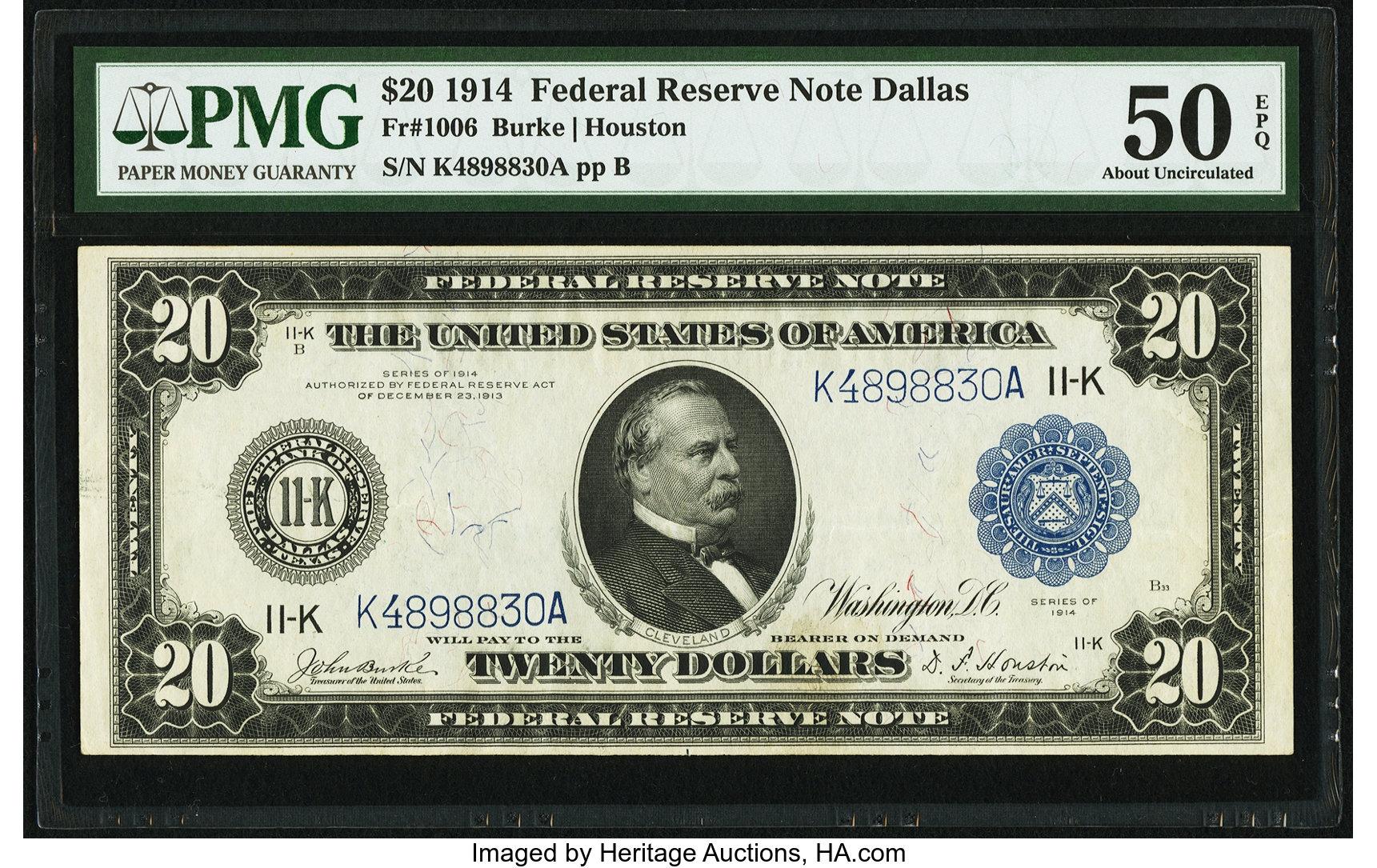 sample image for Fr.1006 $20 Dallas