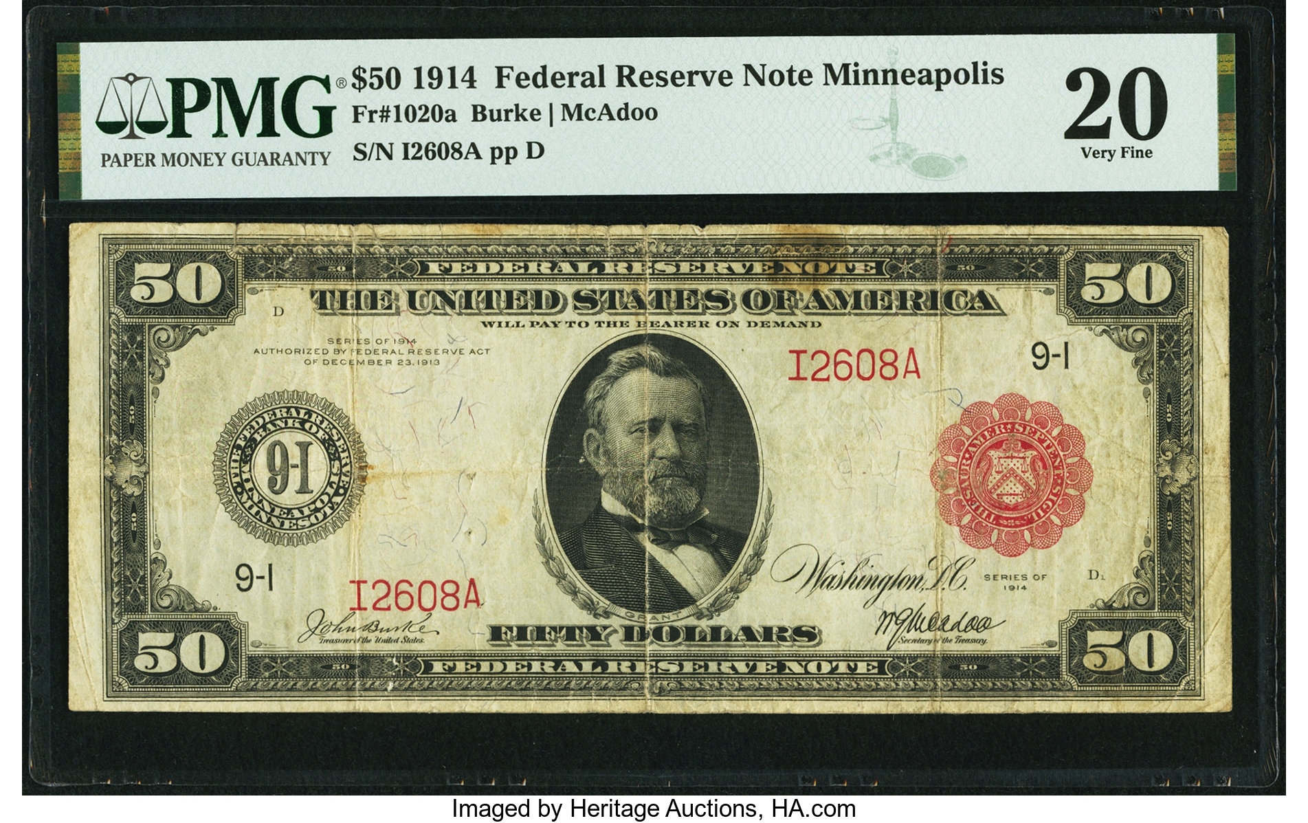 sample image for Fr.1020A $50 Minneapolis RS