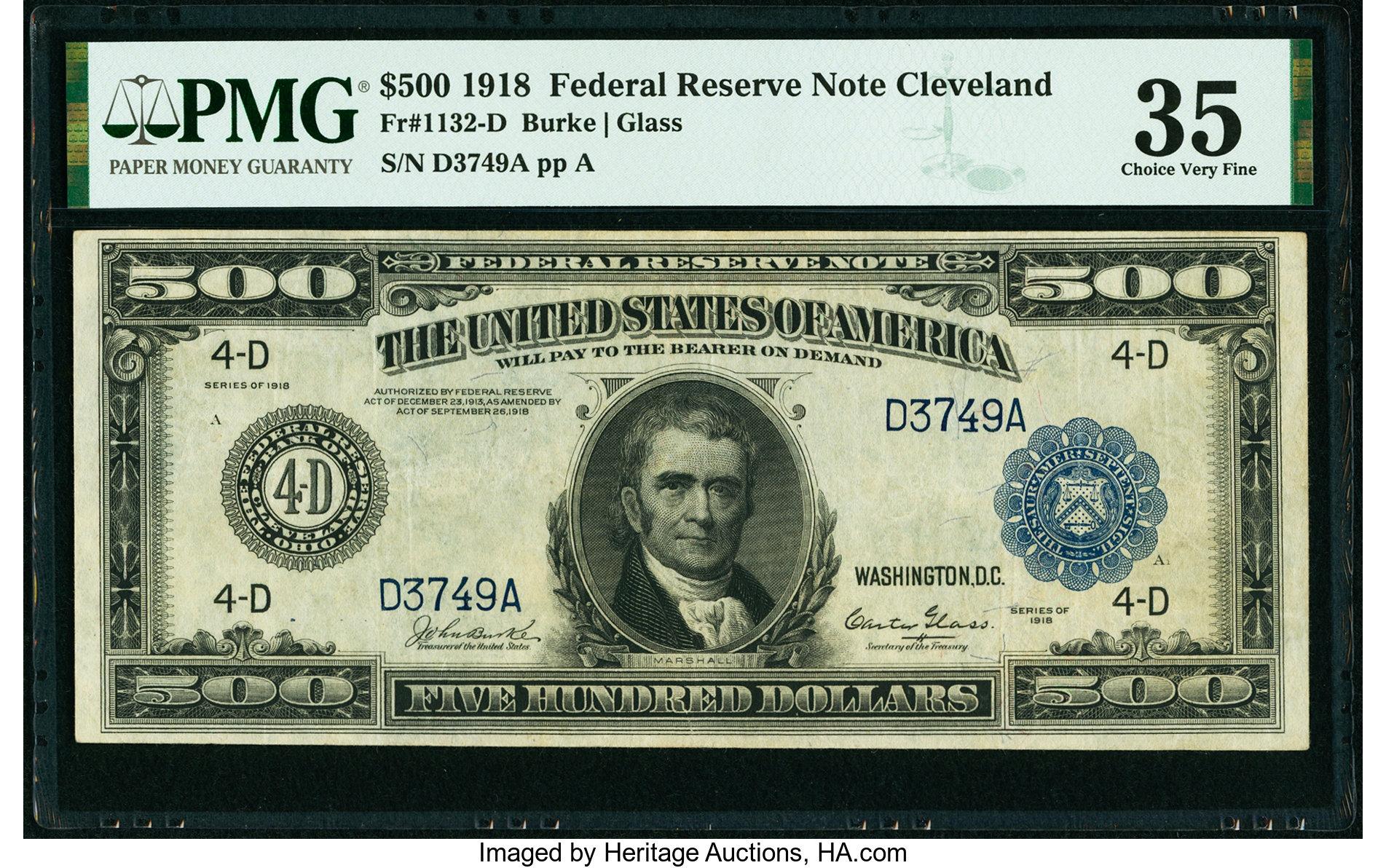 sample image for Fr.1132-D $500 Cleveland