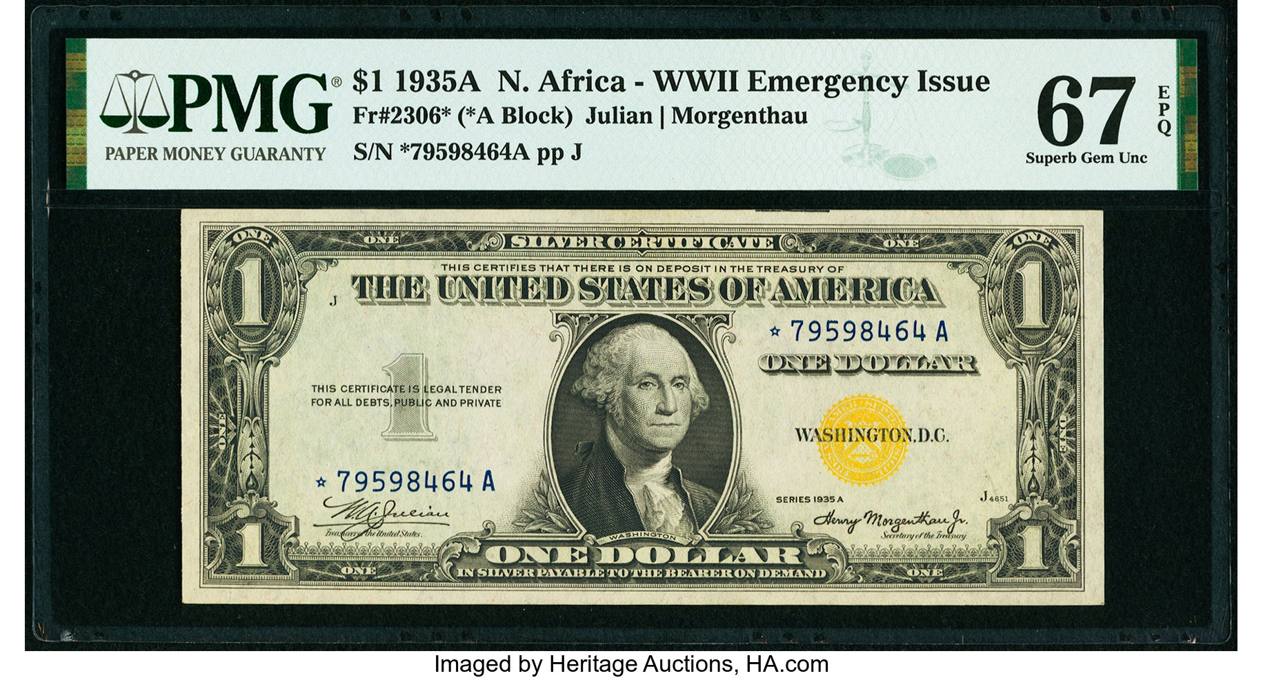 sample image for 1935A North Africa $1  (Fr.# 2306*)