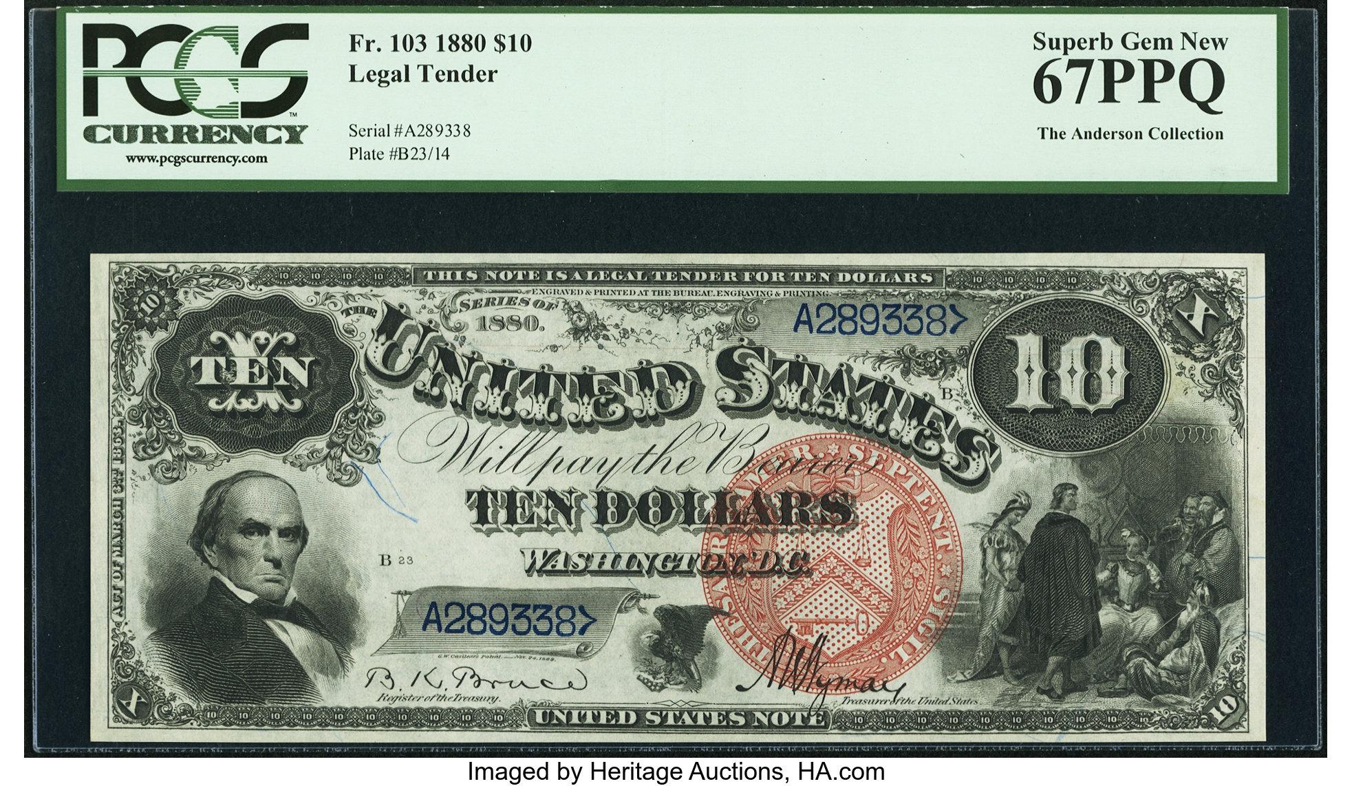 sample image for 1880 $10  (Fr.# 103)