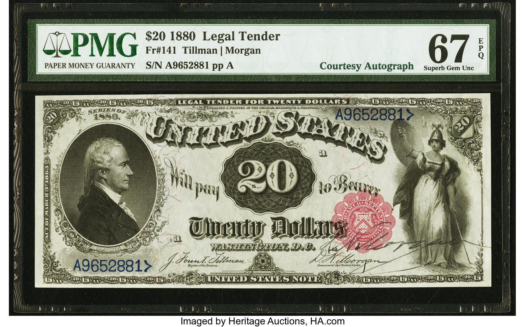 sample image for 1880 $20  (Fr.# 141)