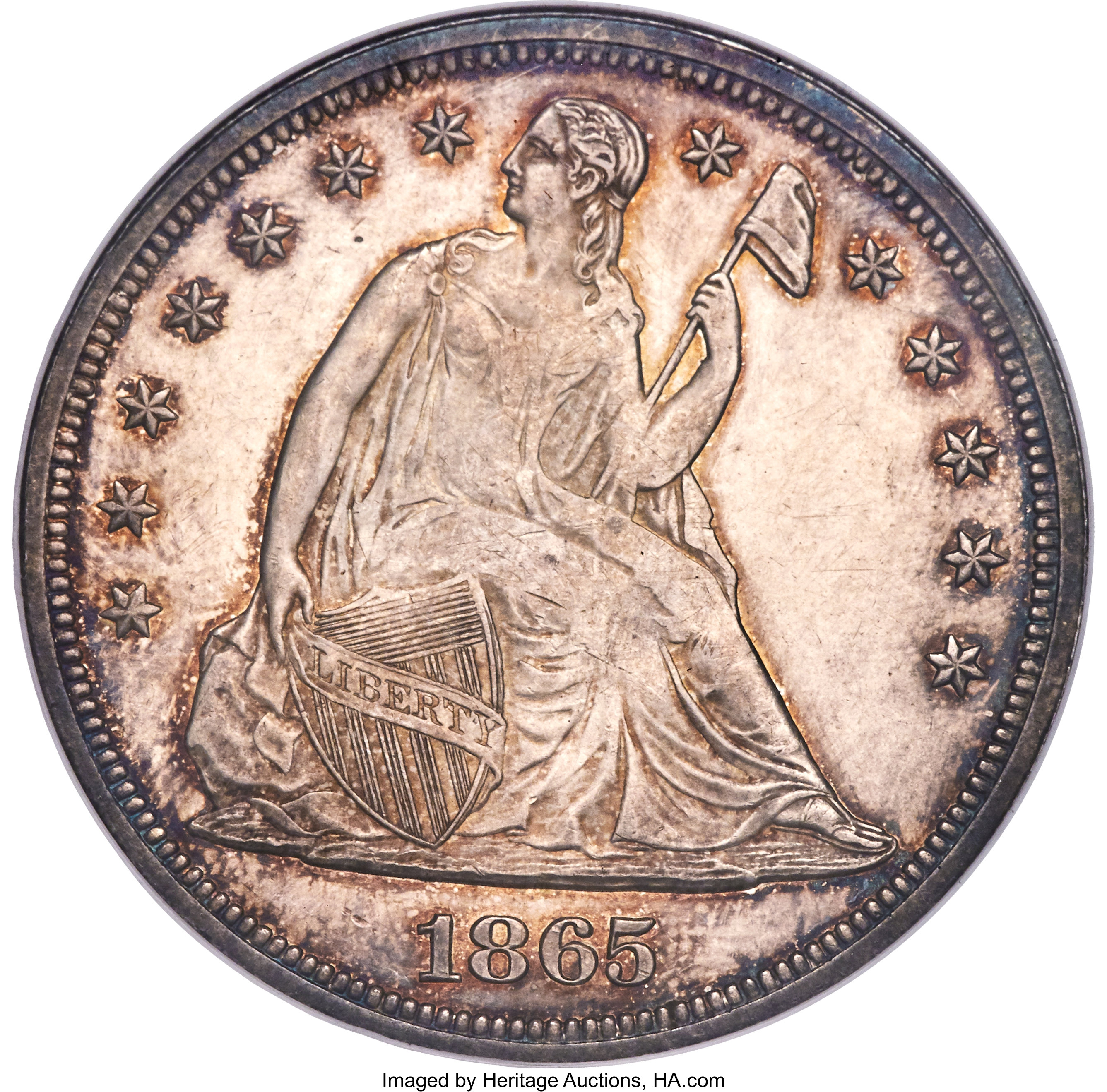 sample image for 1865 $1  MS