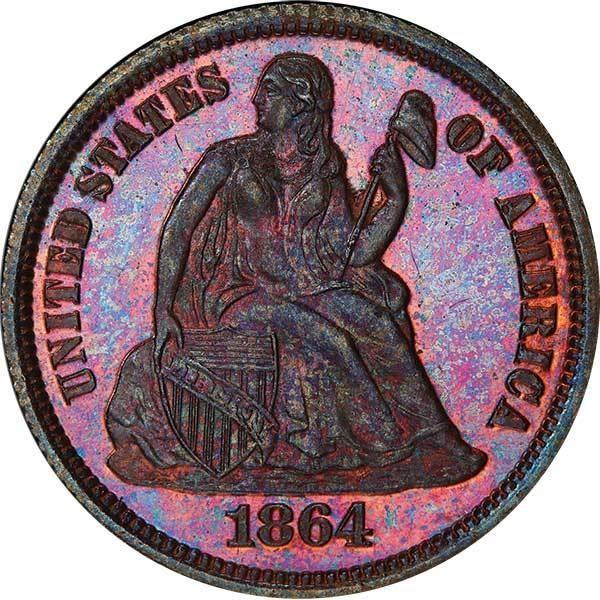 sample image for 1864 J-381 P10c PR BN