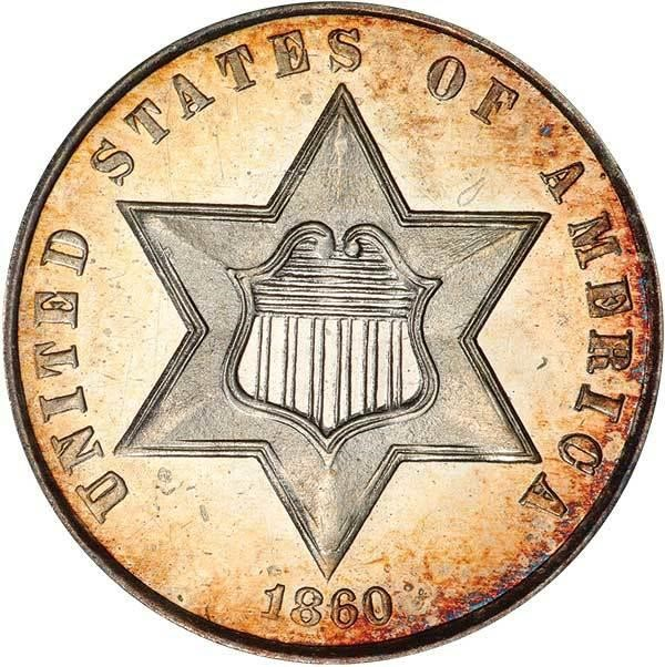 sample image for Three-Cent Silver, Ty. 3 CAM [Type]