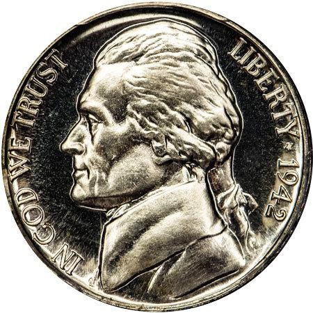 sample image for 1942-P 5c PR CAM Ty. 2, Silver