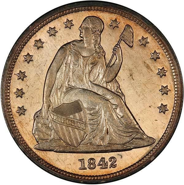 sample image for 1842 $1  MS