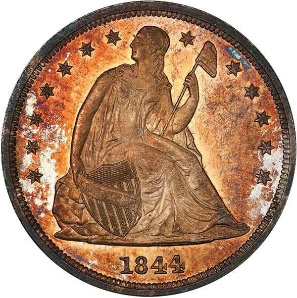 sample image for 1844 $1  MS