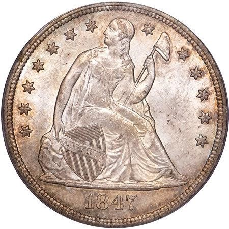 sample image for 1847 $1  MS