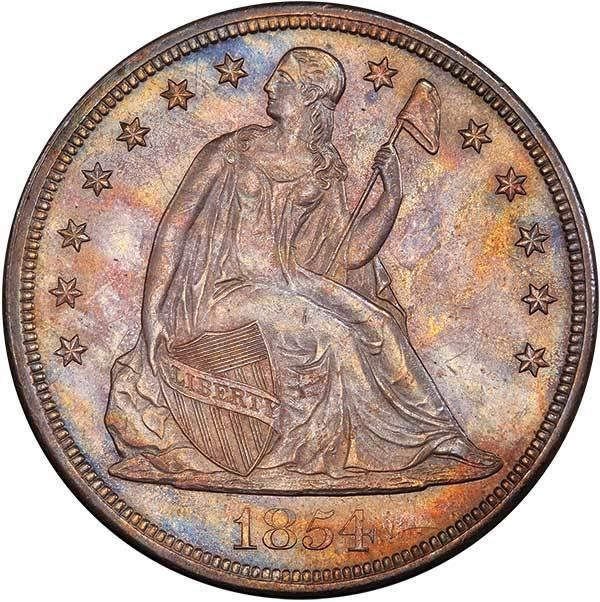 sample image for 1854 $1  MS