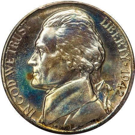 sample image for 1942-P 5c PR Ty. 2, Silver