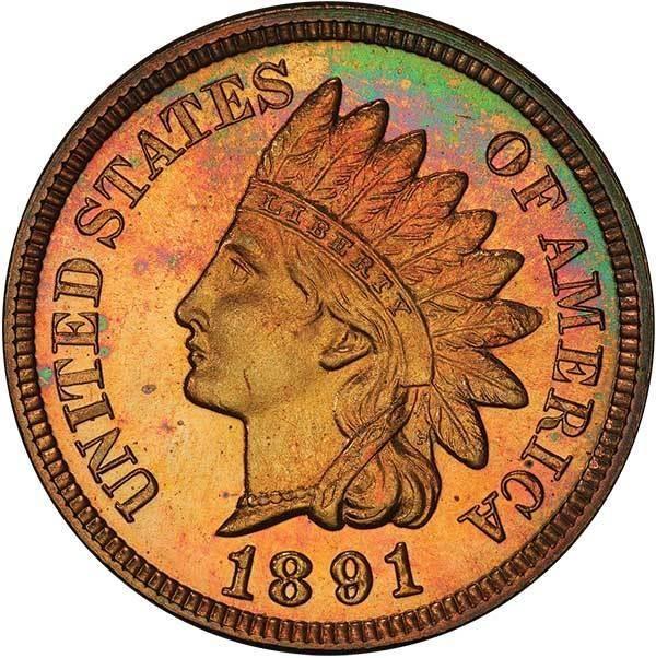 sample image for 1891 1c PR RB