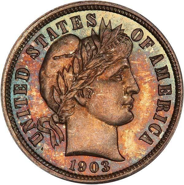 sample image for 1903 10c PR