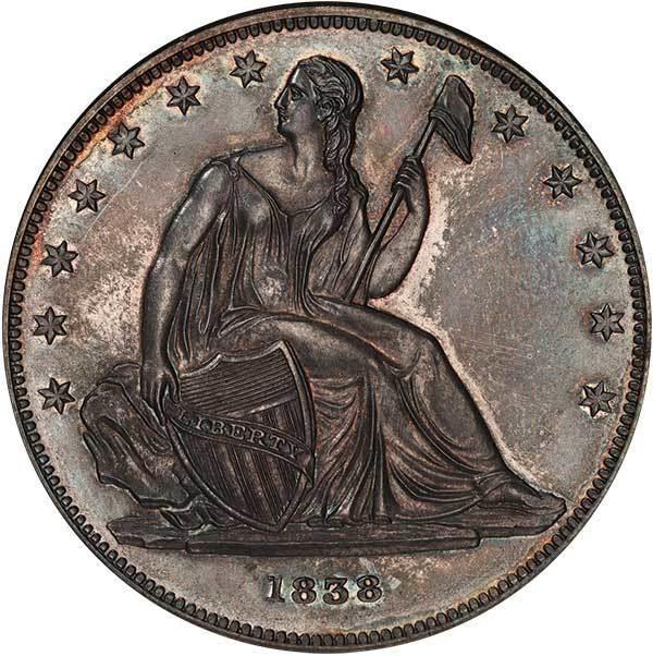 sample image for 1838 J-84, Restrike PS$1 PR