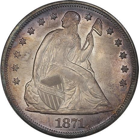 sample image for 1871 $1  MS