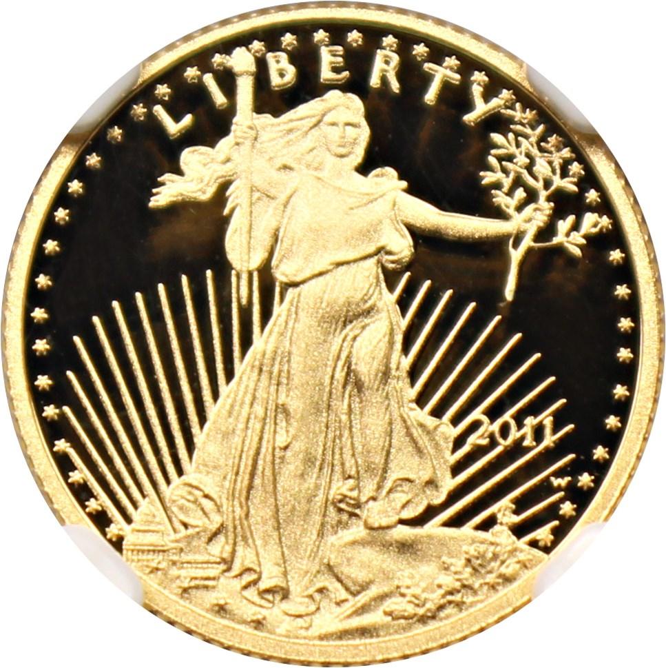 sample image for 2011-W Gold Eagle $5  PR DCAM