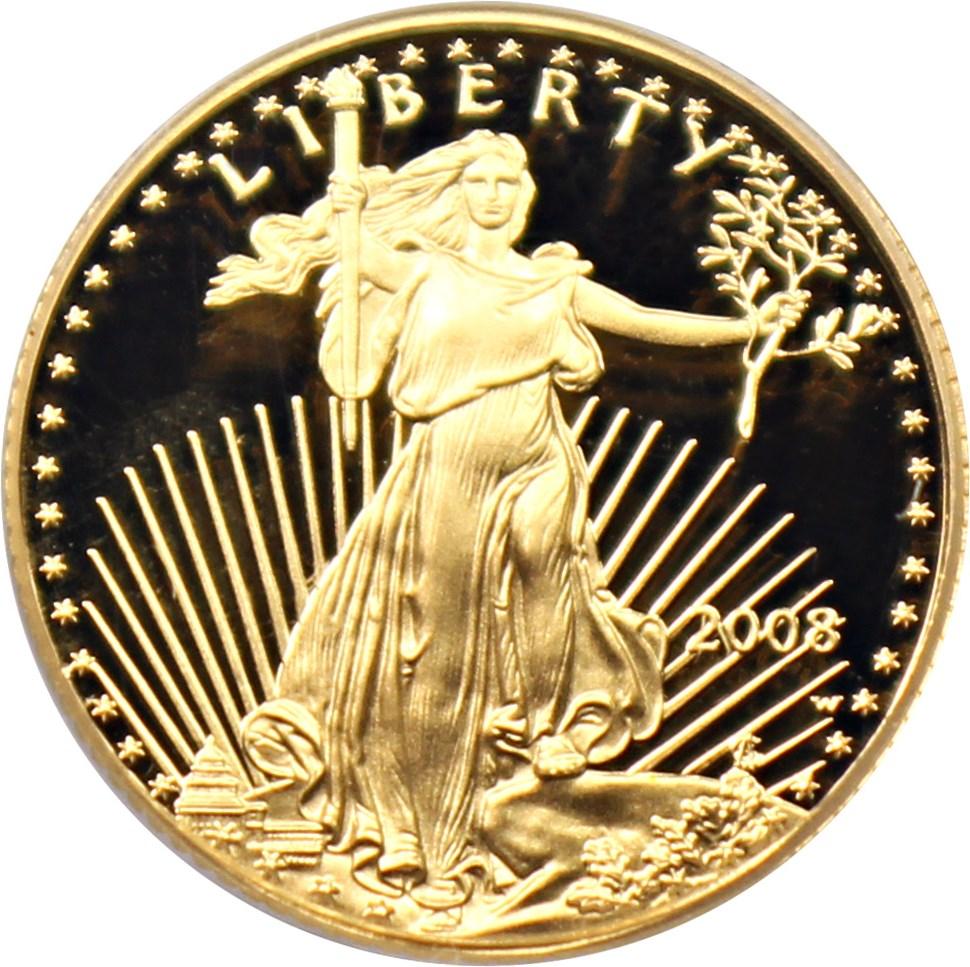 sample image for 2008-W Gold Eagle $5  PR DCAM