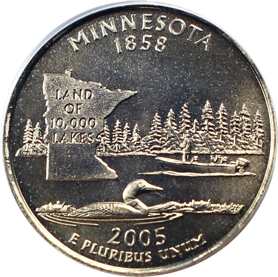sample image for 2005-P Minnesota 25c SP Satin Finish
