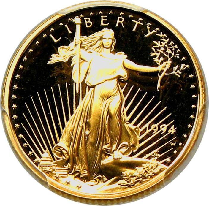 sample image for 1994-W Gold Eagle $5  PR DCAM