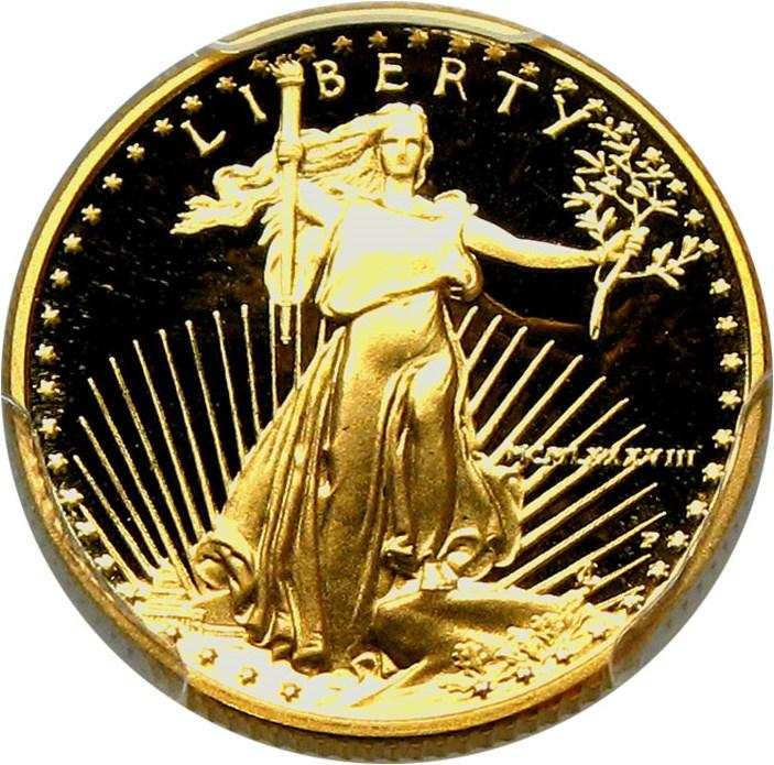 sample image for 1988-Present Gold Eagle $5  PR DCAM [Type]