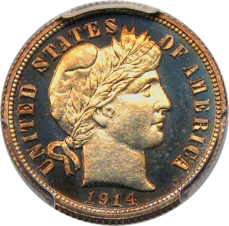 sample image for 1914 10c PR CAM