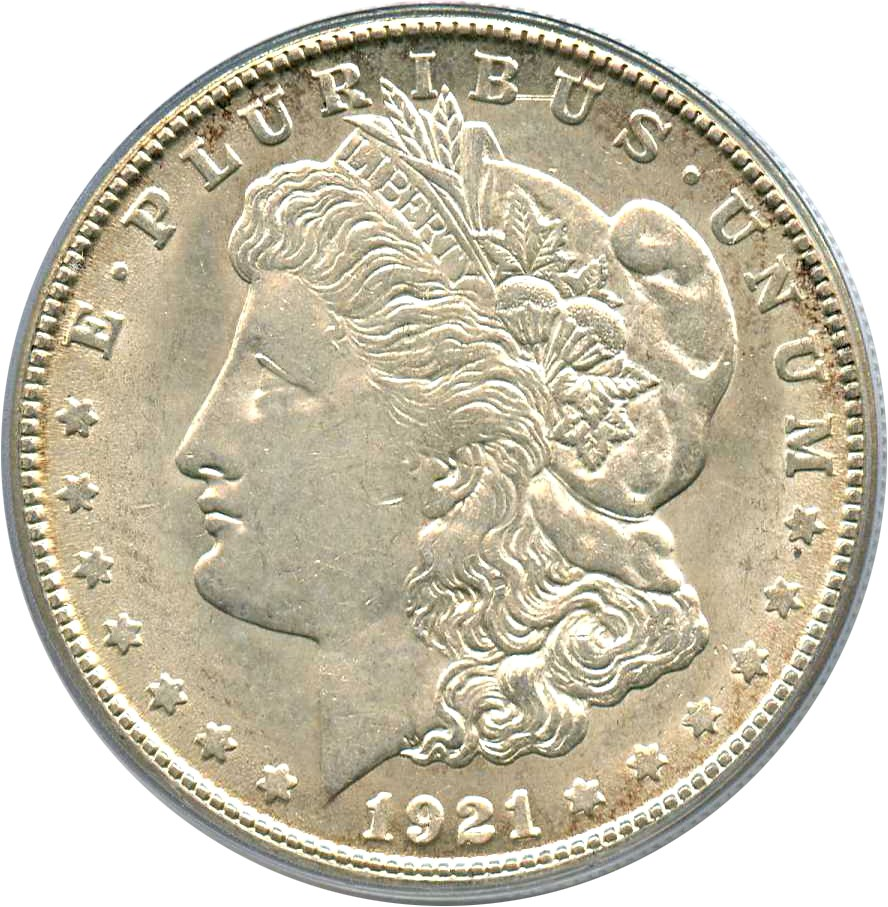 sample image for 1921-S $1  MS VAM-1A, BU Scratch