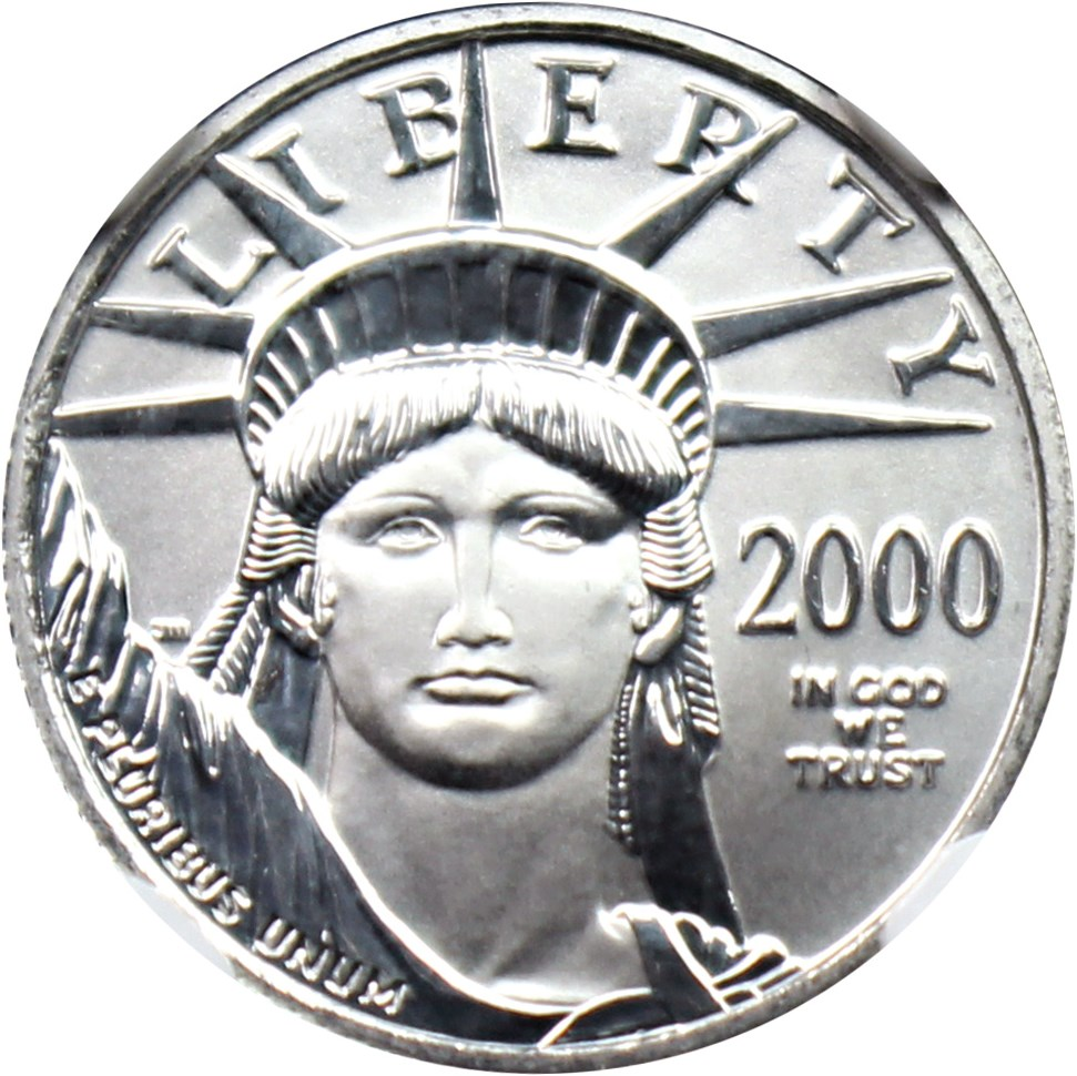 sample image for 2000 Platinum Eagle $10  MS