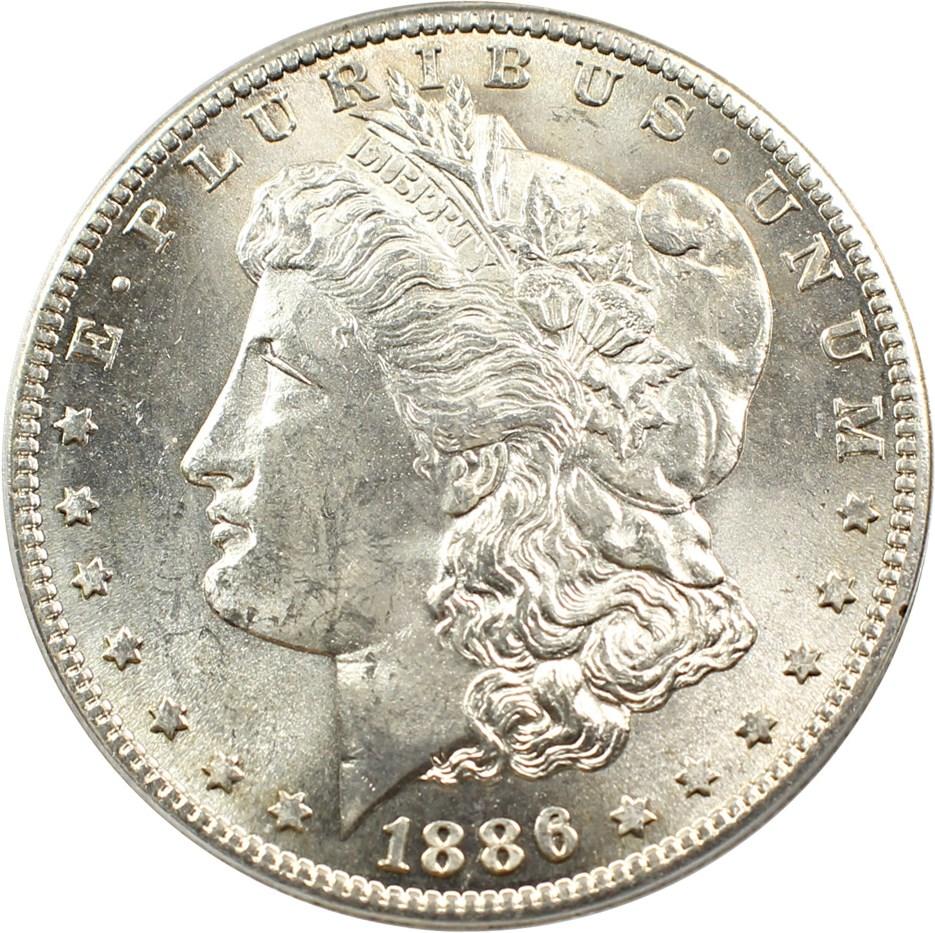 sample image for 1886-S $1  MS VAM-2, S/S