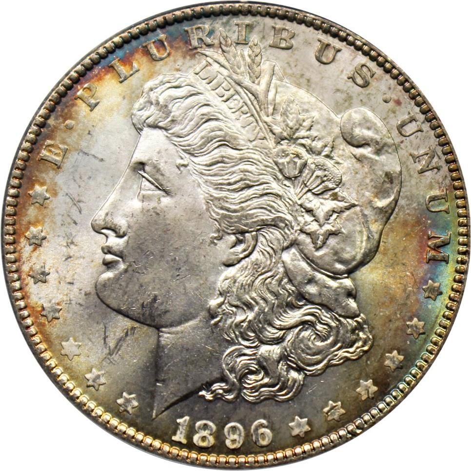 sample image for 1896 $1  MS VAM-20, Bar 6