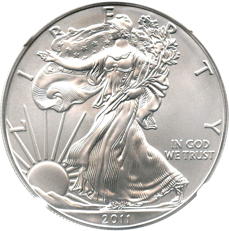 sample image for 2011 Silver Eagle $1  MS 25th Anniversary