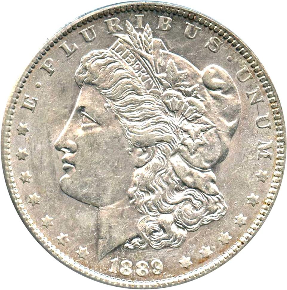 sample image for 1889-O $1  MS VAM-20A, Weak E Rev