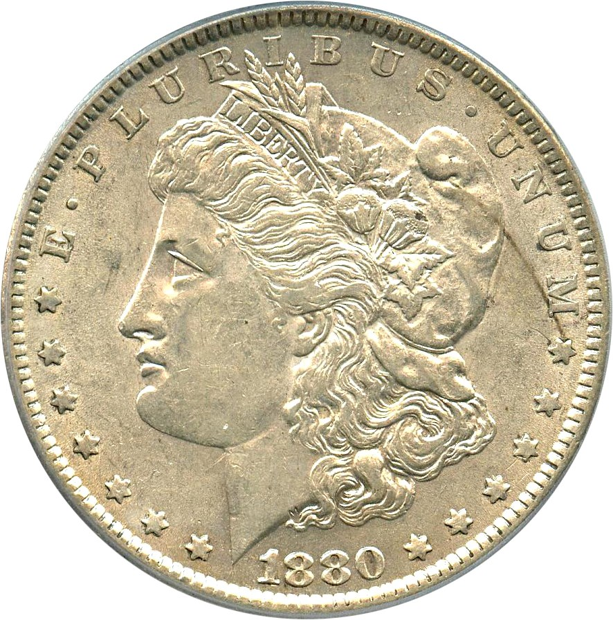 sample image for 1880 $1  MS VAM-29, Checkmark