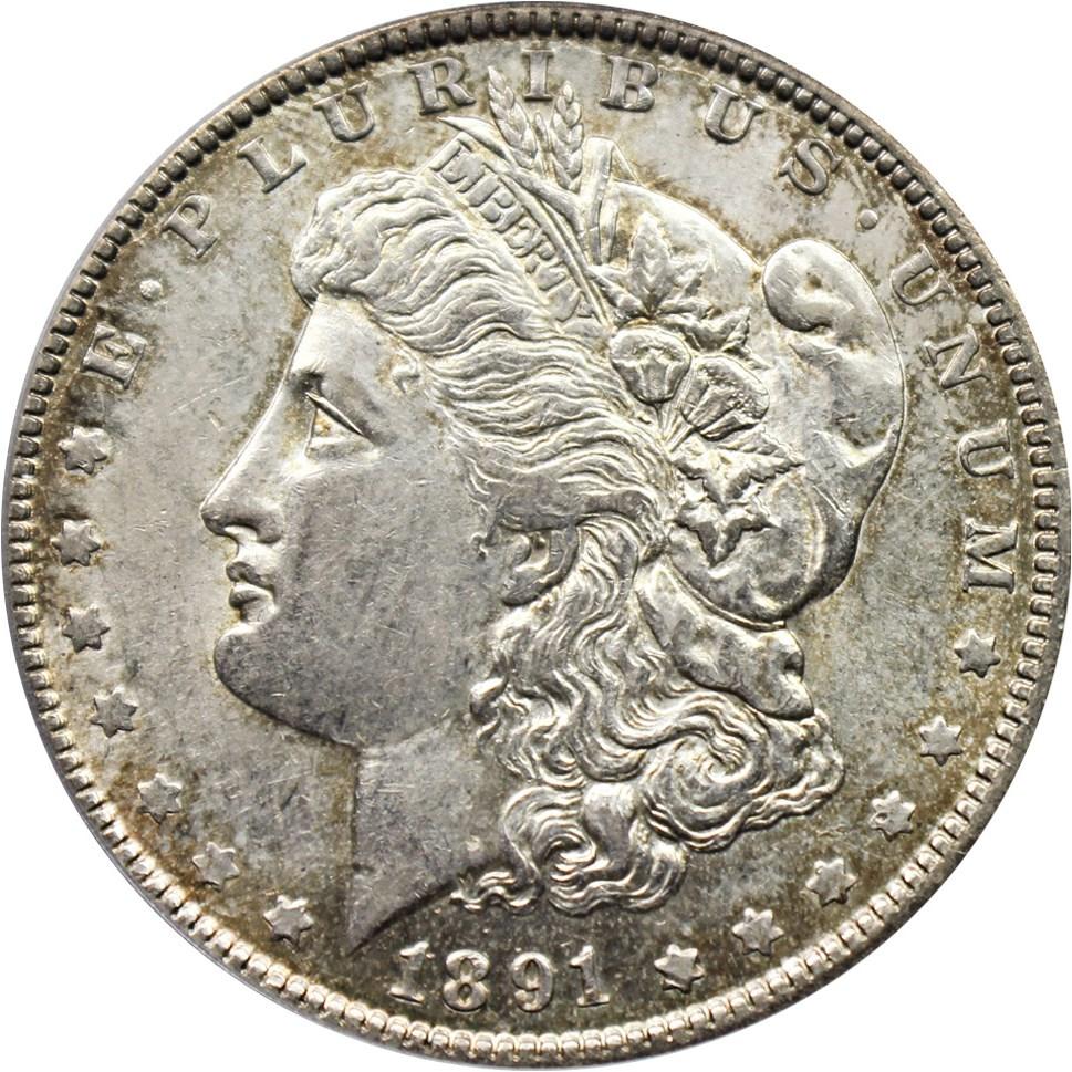 sample image for 1891-O $1  MS VAM-3A, Weak E Rev