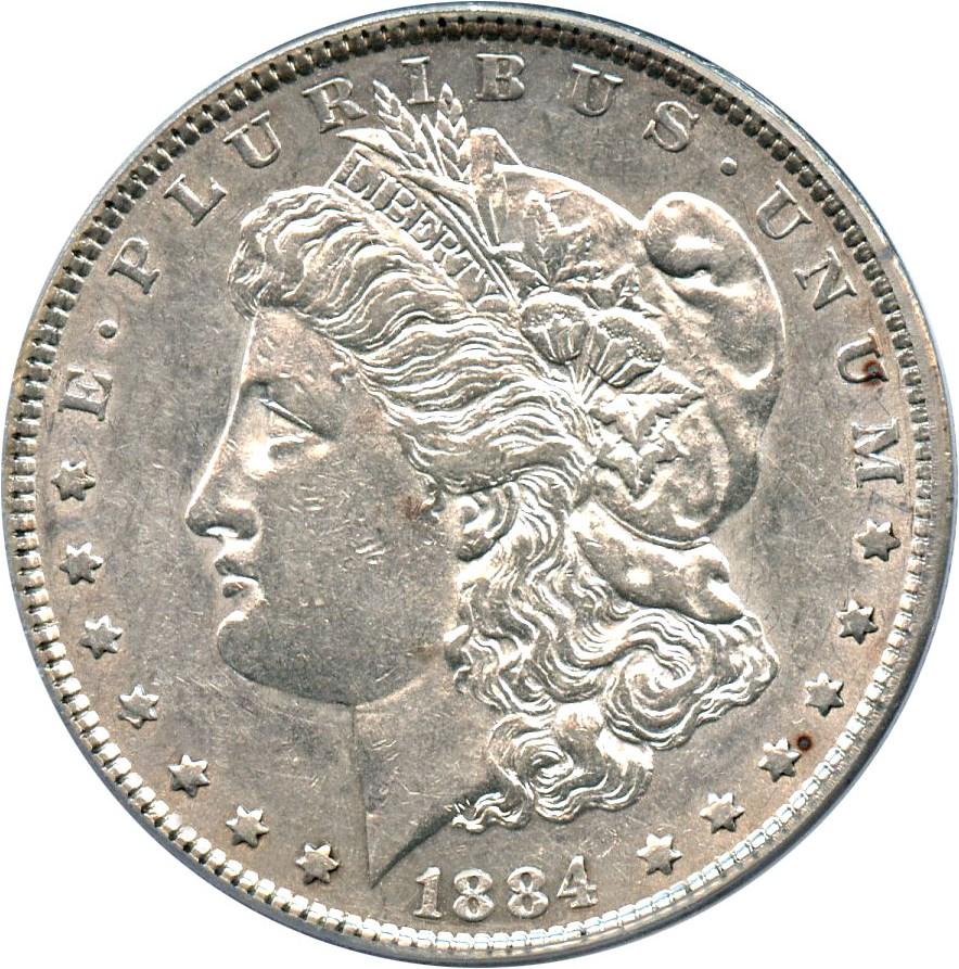 sample image for 1884 $1  MS VAM-5, Doubled Ear