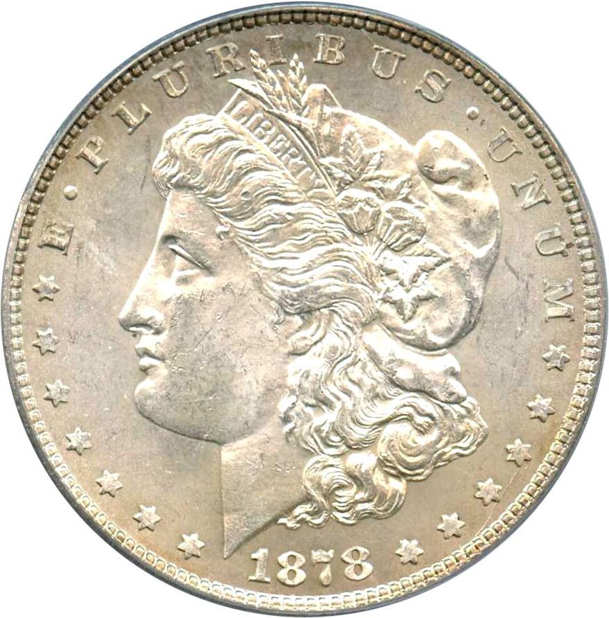 sample image for 1878 7TF Reverse of 1878 $1  MS VAM-82 Doubled Stars