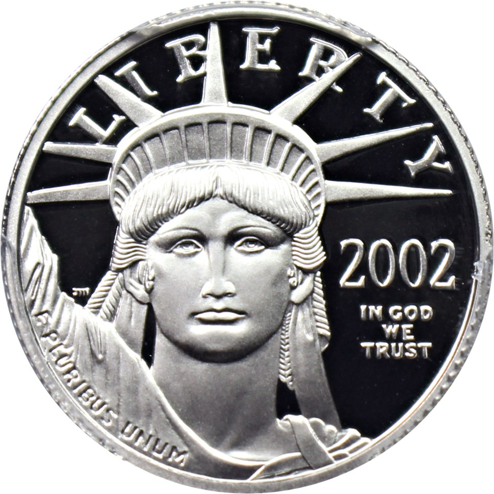 sample image for 2002-W Platinum Eagle $25  PR DCAM