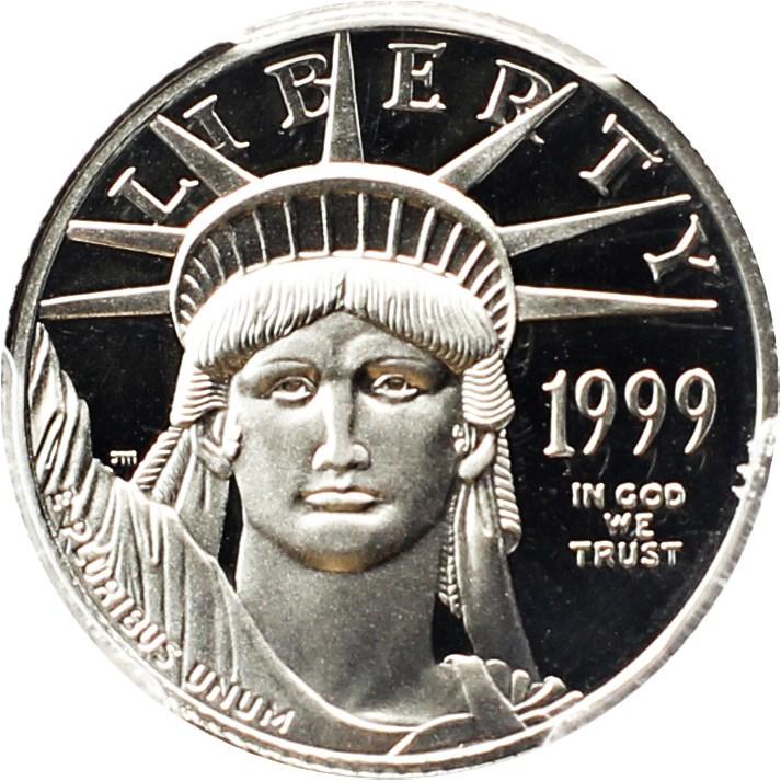 sample image for 1999-W Platinum Eagle $10  PR DCAM